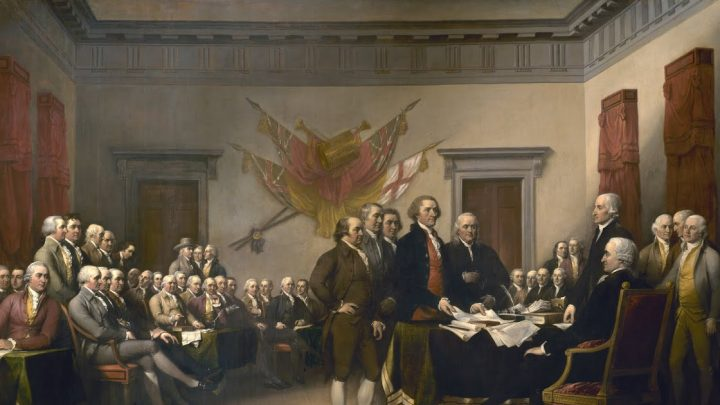 Declaration of Independence, John Trumbull, wikimedia commons - Declaration_independence